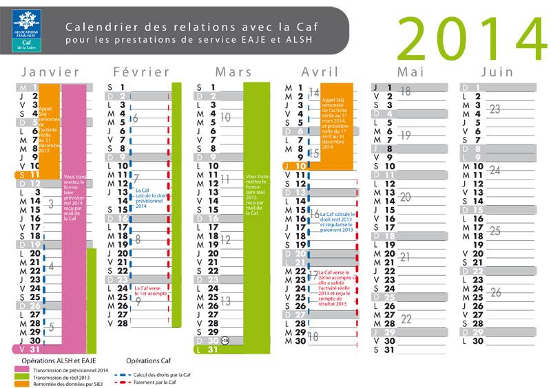 Calendrier Virement Caf.Un Calendrier Des Relations Avec La Caf Pour Les Eaje Et Les